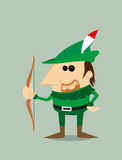 Cartoon Robin Hood Royalty Free Stock Images