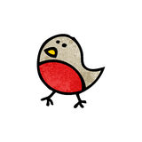 Cartoon robin symbol Royalty Free Stock Photos