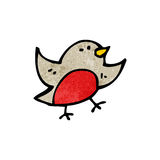 Cartoon robin symbol Royalty Free Stock Image