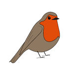Cartoon robin vector Royalty Free Stock Images
