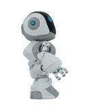 Cartoon robot. Lovely futuristic toy isolated on white Stock Photos