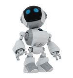 Cartoon robot. Lovely futuristic toy isolated on white Royalty Free Stock Photography