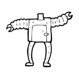 Cartoon robot body (mix and match cartoons or add own photos) Royalty Free Stock Image