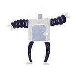 Cartoon robot body (mix and match cartoons or add own photos) Stock Photography