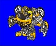 Cartoon robot car vector illustration royalty free illustration