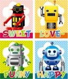 Cartoon robot card Stock Images
