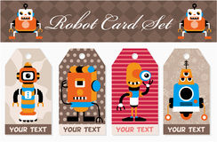 Cartoon robot card Stock Photos