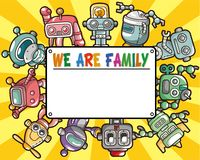 Cartoon robot card Stock Images