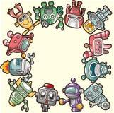 Cartoon robot card Royalty Free Stock Photos