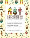 Cartoon robot card Royalty Free Stock Photo