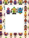 Cartoon robot card Stock Image