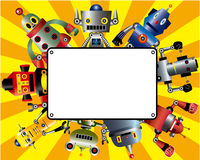 Cartoon robot card Royalty Free Stock Photos