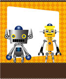 Cartoon robot card Stock Photography