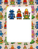 Cartoon robot card Royalty Free Stock Image
