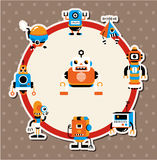 Cartoon robot card Royalty Free Stock Image