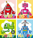Cartoon robot card Royalty Free Stock Photo