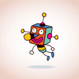 Cartoon robot character Royalty Free Stock Images