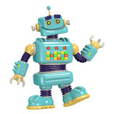 Cartoon robot 3D illustration Royalty Free Stock Photos