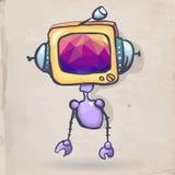Cartoon robot Royalty Free Stock Photo
