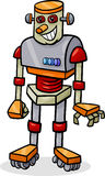 Cartoon robot or droid illustration Royalty Free Stock Photo