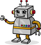 Cartoon robot or droid illustration Royalty Free Stock Image