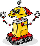 Cartoon robot or droid illustration Royalty Free Stock Photos
