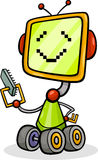 Cartoon robot or droid illustration Royalty Free Stock Photography