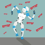 Cartoon Robot Error Stock Photo
