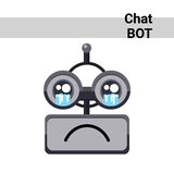 Cartoon Robot Face Cry Emotion Chat Bot Icon Royalty Free Stock Photography