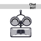 Cartoon Robot Face Screaming Cute Emotion Chat Bot Icon Stock Photo