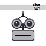 Cartoon Robot Face Smiling Cute Emotion Neutral Chat Bot Icon Stock Images