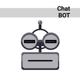 Cartoon Robot Face Smiling Cute Emotion Neutral Chat Bot Icon Royalty Free Stock Photography
