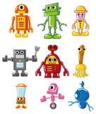 Cartoon robot icon. Vector drawing Royalty Free Stock Photos