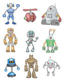 Cartoon robot icon. Vector drawing Royalty Free Stock Images