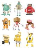 Cartoon robot icon Stock Photos