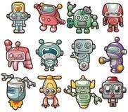 Cartoon robot icon Stock Photography