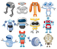 Cartoon robot icon Stock Image