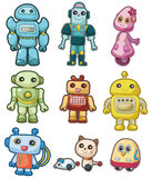 Cartoon robot icon set. Drawing Stock Photo