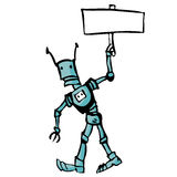 Cartoon robot Royalty Free Stock Photos