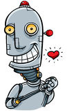 Cartoon Robot in Love Stock Photo