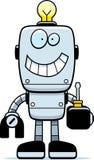 Cartoon Robot Screwdriver Royalty Free Stock Photography