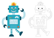 Cartoon robot Royalty Free Illustration