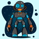 Cartoon Robot Royalty Free Stock Photography