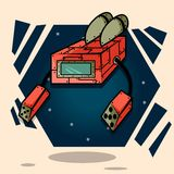 Cartoon Robot Stock Photo