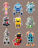 Cartoon robot sticers Stock Photo
