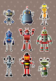Cartoon robot sticers Stock Image