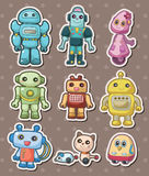 Cartoon robot sticers Stock Photography
