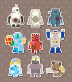 Cartoon robot sticers Royalty Free Stock Images