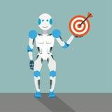 Cartoon Robot Target Stock Images