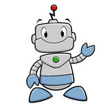 Cartoon Robot. Vector illustration of a smiling funny robot Royalty Free Stock Images